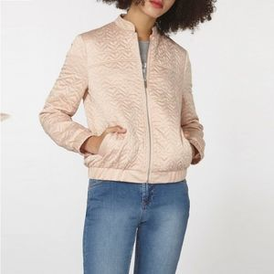 Dorothy Perkins Blush Quilted Bomber Jacket #2957